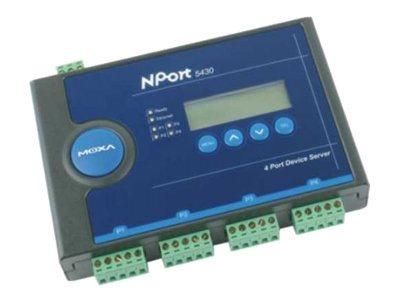 Moxa NPort 5430I - Geräteserver - 4 Anschlüsse - 100Mb LAN, RS-422, RS-485 - Gleichstrom