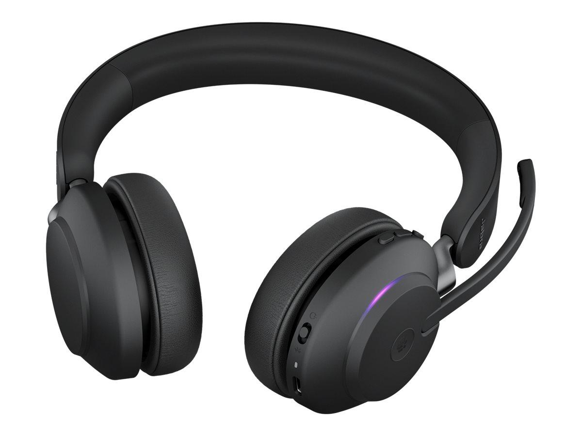 Jabra Evolve2 65 MS Stereo - Headset - On-Ear - Bluetooth - kabellos - USB-C