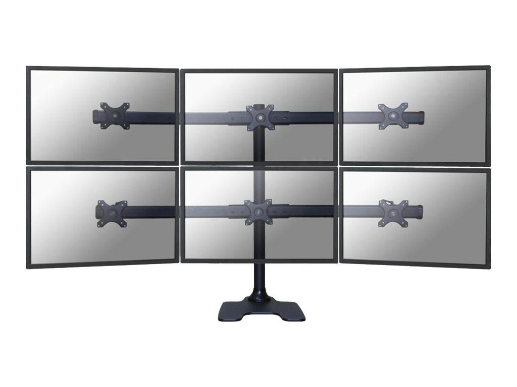 NewStar FPMA-D700DD6 - Aufstellung für 6 LCD-Displays - Schwarz - Bildschirmgrösse: 25.4-68.6 cm (10