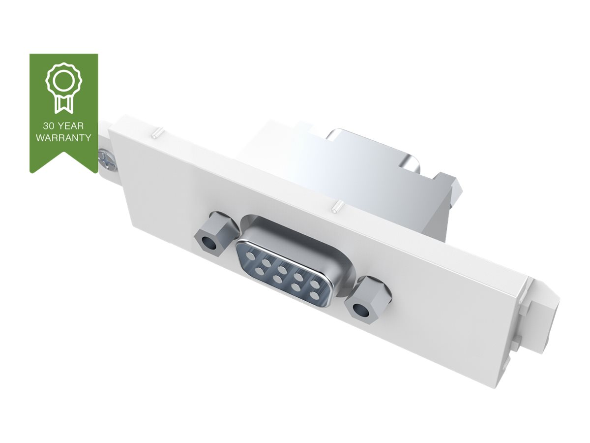 VISION TechConnect 3 Serial Male module - Modulares Faceplate-Snap-In - DB-9