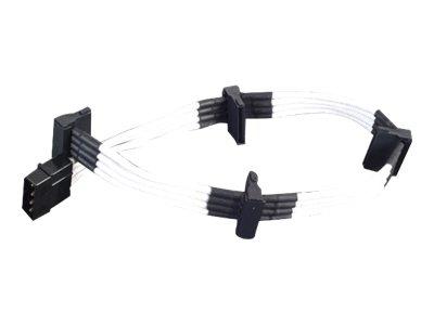 SilverStone PP07 - Spannungsversorgungs-Verlängerungskabel - interne Stromversorgung, 4-polig (M) bis SATA-Stromstecker (W) - 30