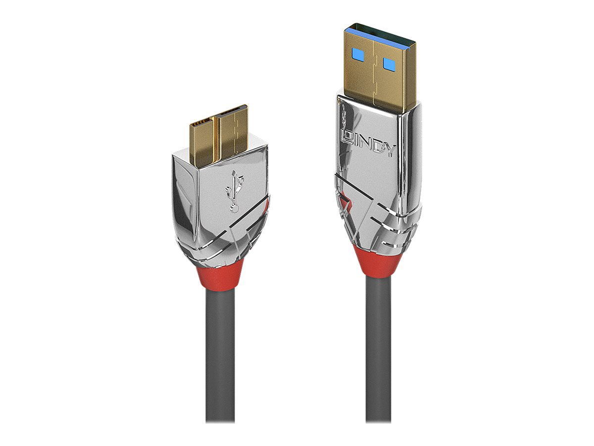 Lindy CROMO - USB-Kabel - USB Typ A (M) bis Micro-USB Type B (M) - USB 3.0 - 50 cm - rund