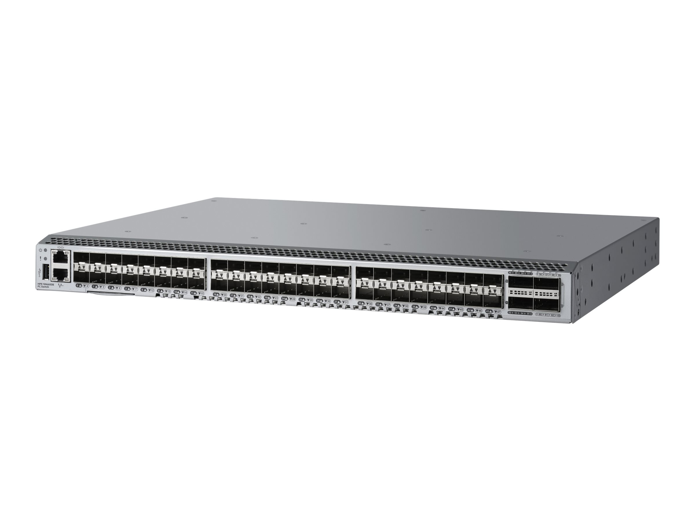 HPE StoreFabric SN6600B 32Gb 48/24 Power Pack+ - Switch - verwaltet - 24 x SFP+ + 4 x QSFP+ - an Rack montierbar - mit 24x 32 Gb