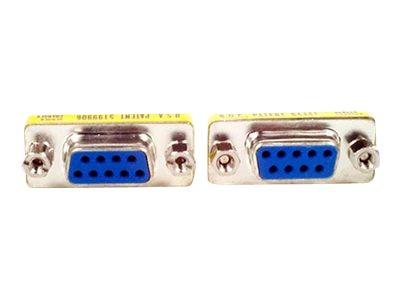 StarTech.com Slimline DB9 serieller Gender Changer - Bu/Bu - Serieller Gender Changer - DB-9 (W) bis DB-9 (W) - für P/N: NETRS23