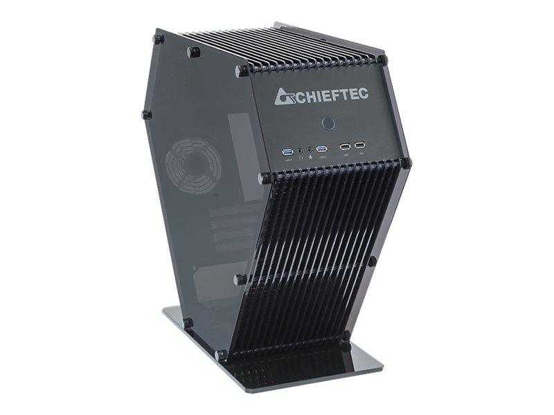 Chieftec UNI Series SJ-06B - Tower - micro ATX - ohne Netzteil (ATX12V 2.3/ PS/2) - Schwarz - USB/Audio