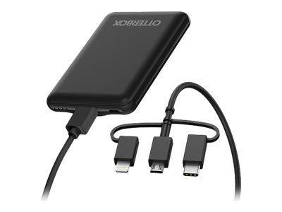 OtterBox Standard Mobile Charging Kit - Powerbank - 5000 mAh - 10.5 Watt - 2.1 A - Apple Fast Charge / Samsung Fast Charge (USB)