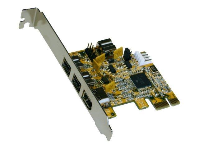 Exsys EX-16415 - FireWire-Adapter - PCIe - Firewire, FireWire 800 - 3 Anschlüsse + 1 x FireWire