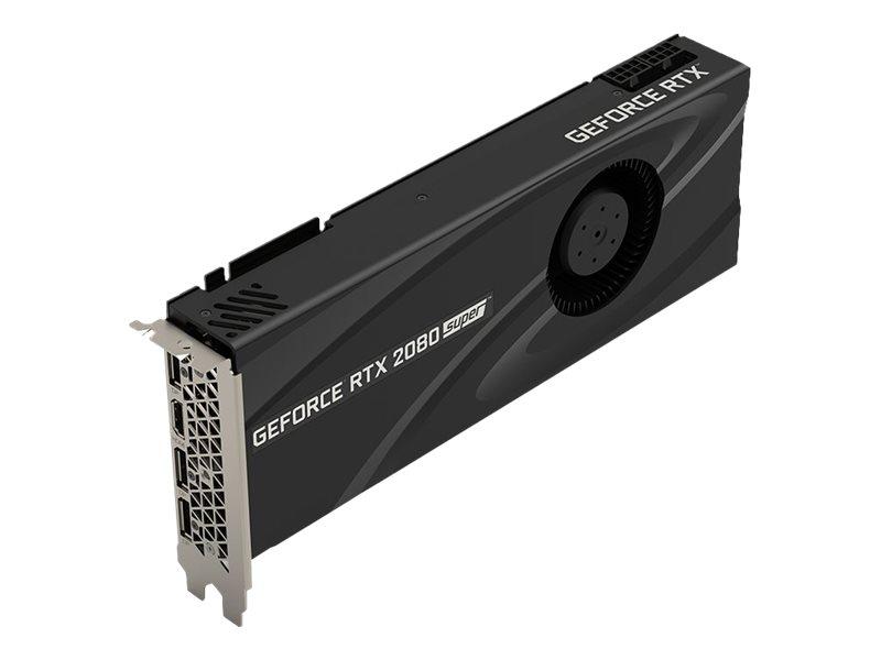 PNY GeForce RTX 2080 Super Blower - Grafikkarten - GF RTX 2080 Super - 8 GB GDDR6 - PCIe 3.0 x16 - HDMI, 3 x DisplayPort