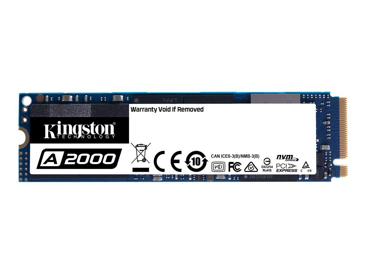 Kingston A2000 - Solid-State-Disk - verschlüsselt - 250 GB - intern - M.2 2280