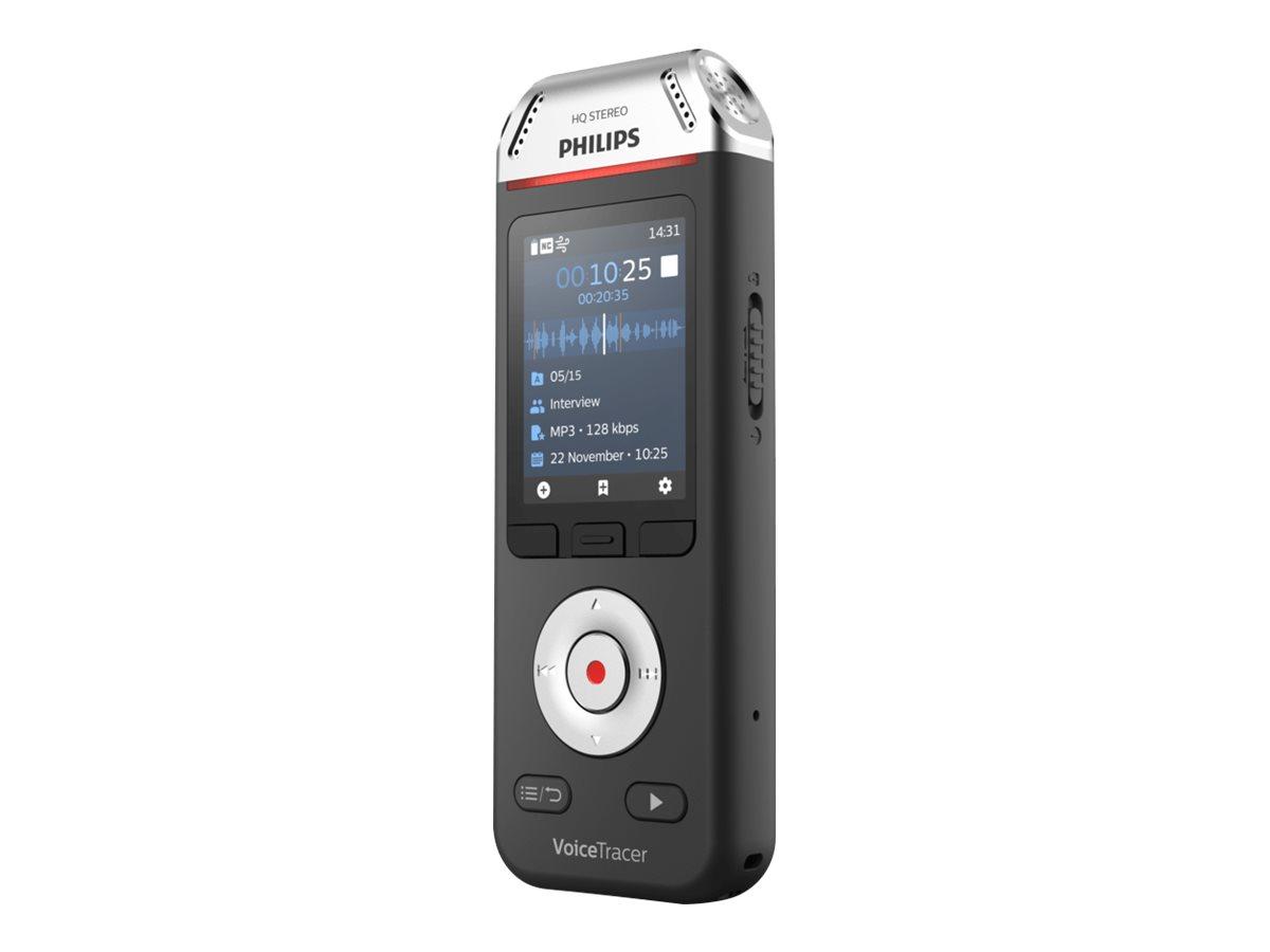 Philips Voice Tracer DVT2110 - Voicerecorder - 200 mW - 8 GB - Schwarz, Chrom
