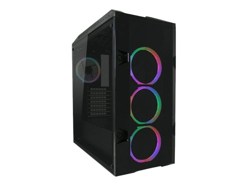 LC Power Gaming 998B Rambot - Tower - ATX - ohne Netzteil - Schwarz, durchsichtig - USB/Audio