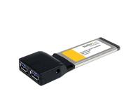 StarTech.com 2 Port USB 3.0 ExpressCard mit UASP Unterstützung - USB 3.0 Schnittstellenkarte für Laptop - USB 3.0 A (Buchse) - U