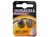 Duracell D357, Single-use battery, Siler-Oxid (S), Knopf/Münze, 1,5 V, 2 Stück(e), Silber