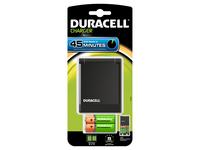 Duracell CEF27+2xAA+2xAAA, AA,AAA, Nickel-Metallhydrid (NiMH), Schwarz, Ladend, Indoor Batterieladegerät, 100-240 V