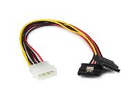 StarTech.com 30 cm 4-Pin LP4 auf SATA Y-Stromkabel - LP4 zu Serial-ATA Splitter Y-Kabel (PYO2LP4LSATA) - Netzteil - interne Stro