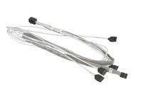 Supermicro - Internes SAS-Kabel - mit Sidebands - Überkreuzung - 4x Mini SAS HD (SFF-8643) (M) bis SATA, Seitenband (W) - 75 cm