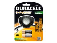 Duracell EXPLORER, Stirnband-Taschenlampe, Schwarz, 19 Lampen, LED, AAA