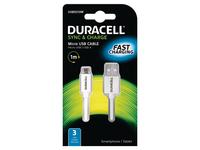 Duracell USB5013W, 1 m, Weiss