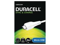 Duracell USB5023W, 2 m, Weiss