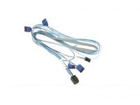 Supermicro - SATA- / SAS-Kabel - mit Sidebands - SAS 12Gbit/s - 4x Mini SAS HD (SFF-8643) (M) bis SATA, Seitenband (W) rechtwink