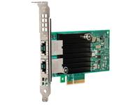 Intel X550-T2, Eingebaut, Verkabelt, PCI Express, Ethernet, 10000 Mbit/s, Grün, Silber