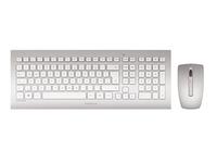 CHERRY DW 8000 - Tastatur-und-Maus-Set - kabellos - 2.4 GHz - Deutsch - weiss, Silber