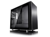 Fractal Design Define R6, Midi-Tower, PC, Aluminium, Gehärtetes Glas, ATX,EATX,ITX,Micro-ATX, Schwarz, 18,5 cm
