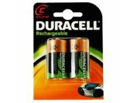 Duracell Rechargeable C Size 2 Pack, Rechargeable battery, Nickel-Metallhydrid (NiMH), 1,2 V, 2 Stück(e), 2200 mAh, Schwarz, Gol