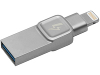 Kingston DataTraveler BOLT Duo - USB-Flash-Laufwerk - 32 GB - USB 3.0 / Lightning - Silber