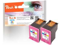 Peach Tinte HP C2P07AE 62XL color Twinpack
