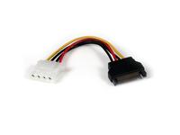 StarTech.com 15cm SATA auf LP4 Stromadapter - Bu/St - Netzteil - SATA-Stromstecker (M) bis interne Stromversorgung, 4-polig (W)