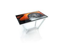 NEC ZLEGS-PCAP-65-850-W Table legs for V654Q PCAP, Z-design, 850mm, white, TV legs set, Weiss, NEC V654Q, 850 mm