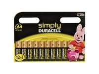 Duracell MN1500B12S, Single-use battery, AA, Alkali, Zylindrische, 1,5 V, 12 Stück(e)
